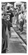 Monks Out And About Bath Towel