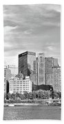 Monochrome Pittsburgh Panorama Bath Towel