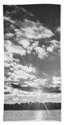Monochrome Vintage Sunset  Bath Towel