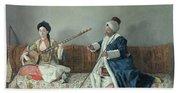 Monsieur Levett And Mademoiselle Helene Glavany In Turkish Costumes Hand Towel