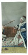 Monsieur Levett And Mademoiselle Helene Glavany In Turkish Costumes Bath Towel