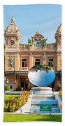 Monte Carlo Casino And Sky Mirror In Monaco Bath Towel