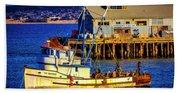 Monterey Bay Fishing Boat Hand Towel