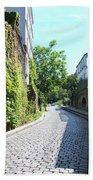 Montmarte Paris Cobblestone Streets Bath Towel