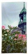 Montreal Bldg Among Flowers Bath Towel