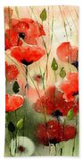 Moody Poppies In The Afternoon Bath Towel