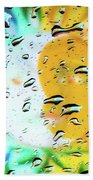 Moon And Sun Rainy Day Windowpane Bath Towel