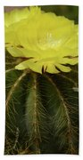 Moon Cactus Blooms Bath Towel