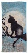 Moon Kitty Bath Towel
