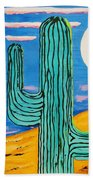 Moon Light Cactus L Bath Towel