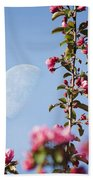 Moon Through The Crabapple Blossoms Bath Towel