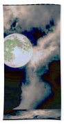 Moon Walk By The Clouds Bath Towel