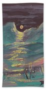 Moonglow On The High Desert Painting By Donna Blackhall