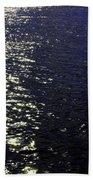 Moonlight Sparkles On The Sea Bath Towel