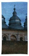 Moonlit Monastery Bath Towel