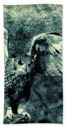 Moonlit Owl Bath Towel