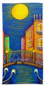 Moonlit Venice Hand Towel