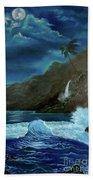 Moonlit Wave Bath Towel