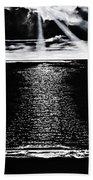 Moonrise Over The Atlantic  Bath Towel