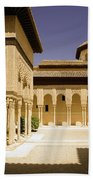 Moorish Architecture In The Nasrid Palaces At The Alhambra Granada Bath Towel