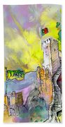 Moorish Castle In Sintra 01 Bath Towel