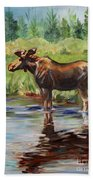 Moose At Henry's Fork Bath Towel