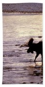 Moose Crossing Bath Towel