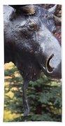 Moose In Vail Bath Towel