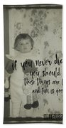Moppets Quote Bath Sheet