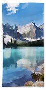 Moraine Lake At Banff National Park Hand Towel
