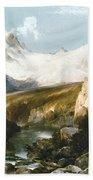Moran: Teton Range, 1897 Bath Towel