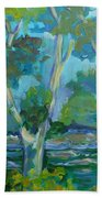 Moria River At Belleville Hand Towel