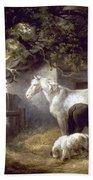 Morland: Farmyard, 1792 Bath Towel