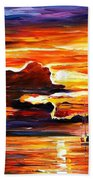 Morning After The Storm - Palette Knife Oil Painting On Canvas By Leonid Afremov Bath Towel