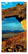 Morning At Landscape Arch Hand Towel