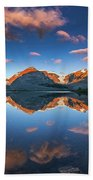 Morning Colors At Ice Field Center Bath Towel
