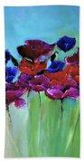 Morning Light Poppies Painting Bath Towel