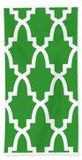 Moroccan Arch With Border In Dublin Green Bath Towel