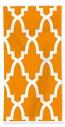 Moroccan Arch With Border In Tangerine Bath Towel