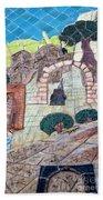 Mosaic Art At Petra Bath Towel