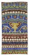 Mosaic Fountain Detail 4 Bath Towel