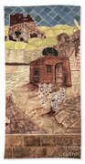 Mosaic Images At Petra Bath Towel