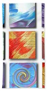 Mosaic Of Abstracts Bath Towel