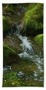 Mose On Rocks  Bath Towel