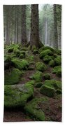 Moss Covered Rocks Hand Towel