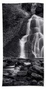 Moss Glen Falls - Monochrome Bath Towel