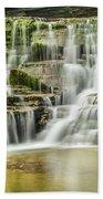 Mossy Flowing Waterfalls In Enfield Glen Bath Towel