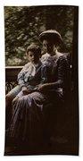 Mother And Child. Johannes Hendrikus Antonius Maria Lutz, 1907 - 1916 Bath Towel