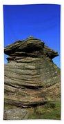 Mother Cap Gritstone Rock Formation, Millstone Edge Bath Towel