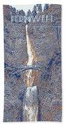 Motivational Travel Poster - Fernweh 2 Bath Towel